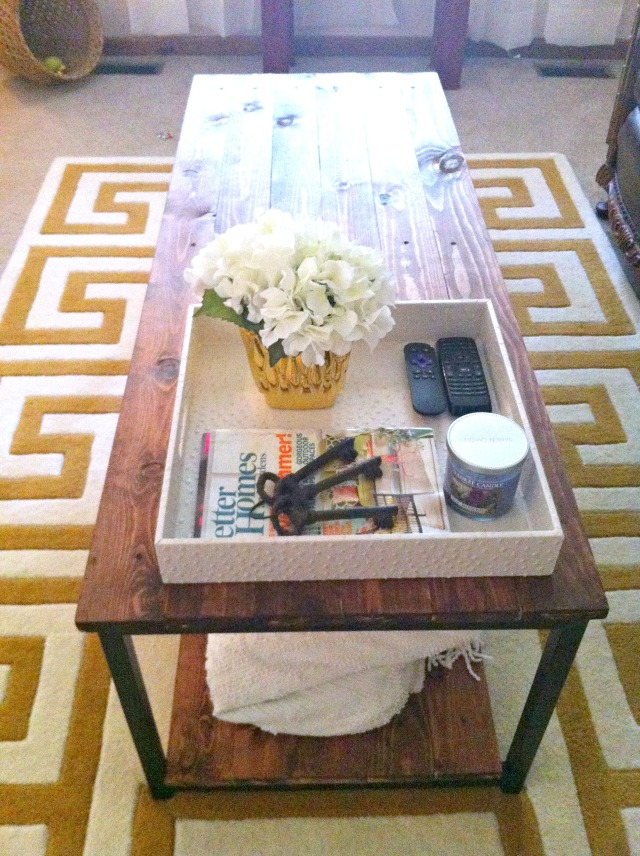 Coffee Table DIY at myownhomeblog.com
