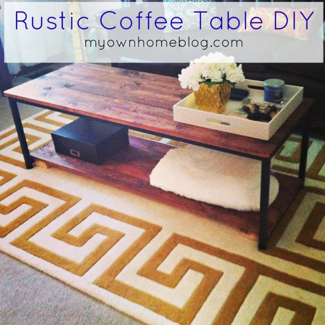Rustic Coffee Table DIY at myownhomeblog.com