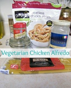Vegetarian Chicken Alfredo Recipe at myownhomeblog.com